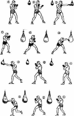 серии ударов в боксе в картинках