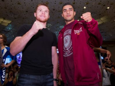 ФОТО: Альварес и Лопес прибыли в Лас-Вегас