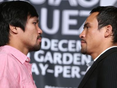 ФОТО: Маркес и Пакьяо лицом к лицу на пресс-конференции в Беверли-Хиллз