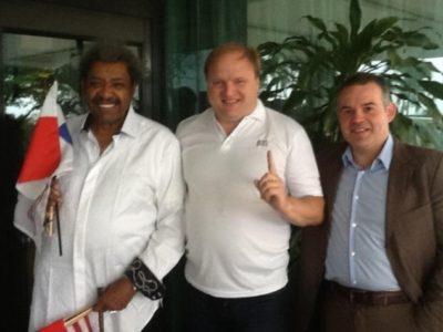 ФОТО: Хрюнов, Мендоса мл. и Дон Кинг
