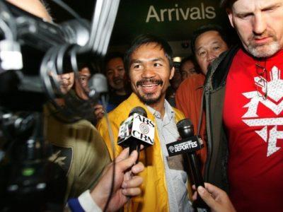 ФОТО: Пакьяо прибыл в Лос-Анджелес