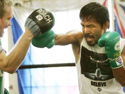 ФОТО: Пакьяо готовится к бою с Маркесом