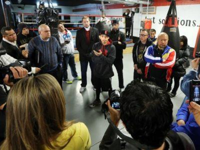 ФОТО: Донэр и Арсе провели открытую тренировку и пообщались с прессой