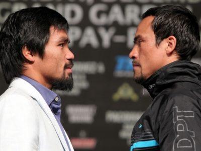 ФОТО: Пакьяо и Маркес сошлись лицом к лицу на финальной пресс-конференции