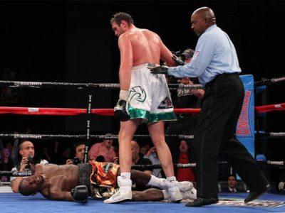 Фьюри нокаутировал Каннингема, побывав в нокдауне!
