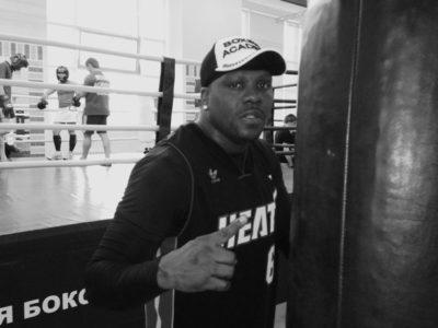 ФОТО: Тренировка Гильермо Джонса в Академии Бокса в преддверии поединка против Дениса Лебедева