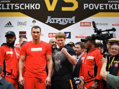 Взвешивание в Москве: Кличко — 109,6 кг; Поветкин — 102,4 кг + ФОТО