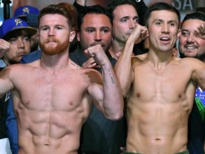 Геннадий Головкин и Сауль Альварес показали одинаковый вес: 72,5 кг