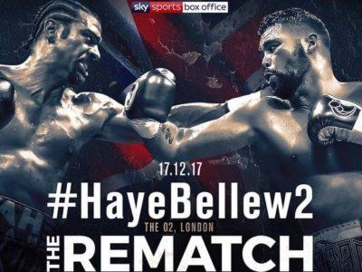 Официально:  Хэй – Беллью II 17 декабря на Арене О2 в Лондоне!