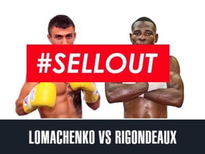 Ломаченко – Ригондо. Все билеты проданы!