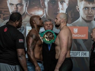 Взвешивание в Москве: Кузьмин — 109,6 кг, Мансур — 101,8 кг