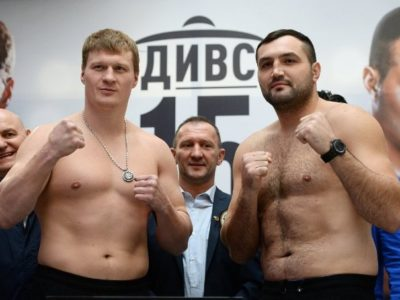 Взвешивание в Екатеринбурге: Хаммер перевесил Поветкина на 15 кг (ФОТО)
